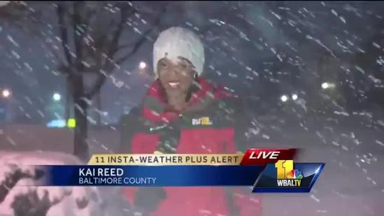 Team coverage: Snow blankets Maryland