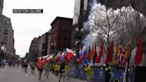 Local reporter at the marathon finish line tells what he saw