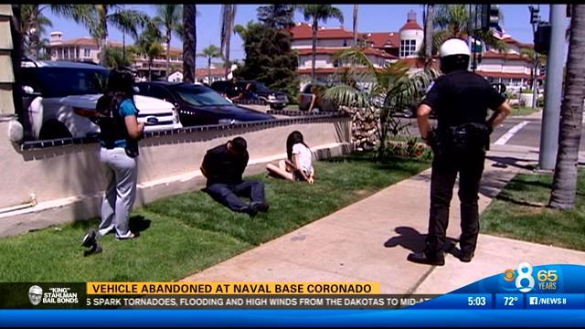Vehicle abandoned at Naval Base Coronado