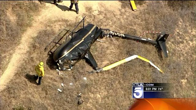 Helicopter Makes an Emergency Landing in Griffith Park