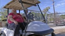 Disabled woman gets new motorized golf cart from anonymous donor