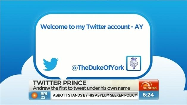 Prince Andrew joins Twitter