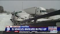 15-Car Pileup Shuts Down Highway