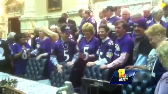 Lawmakers root Ravens on