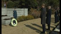 Prince William pays tribute to war dead in Japan