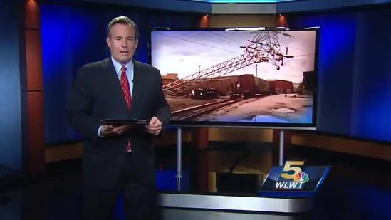 Train derails in Norwood, causing power outages
