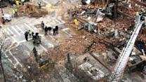 Officials Survey NYC Building Explosion Site