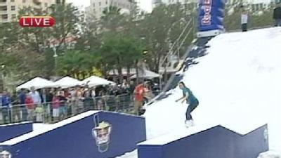 Snowboarders Show Skills In West Palm Beach