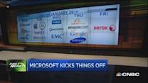 Trader: Microsoft quarter just okay...