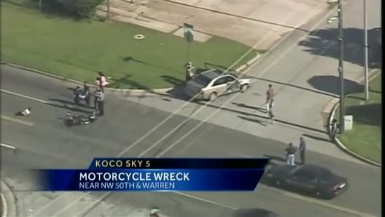 At least 1 hurt in motorcycle accident