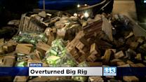 Overturned Big Rig Causes Messy Morning In Ripon