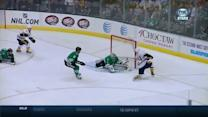 Lehtonen gets over in time to stone Nystrom