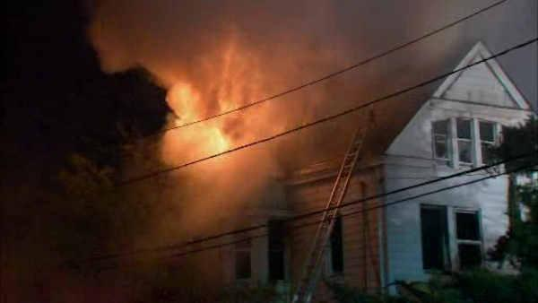 Fire tears through homes in Paterson