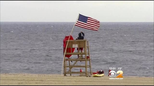 Lifeguards Watch For Dangerous Rip Currents As Arthur Heads North