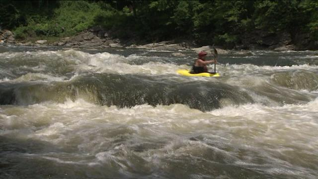 Heavy Rain Causes Epic White Water Kayaking Conditions