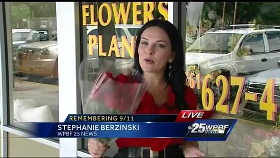 Florist gives away free roses on 9/11 anniversary