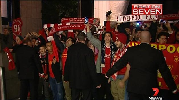 Liverpool touch down in Melbourne