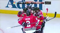 Bickell deflects Seabrook's shot by Miller