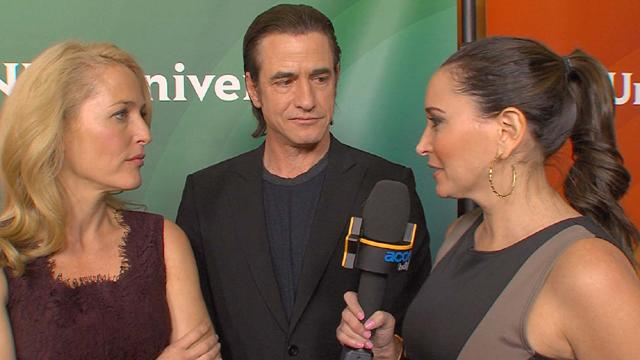 Gillian Anderson On NBC's 'Crisis': Does Dermot Mulroney Measure Up To David Duchovny?