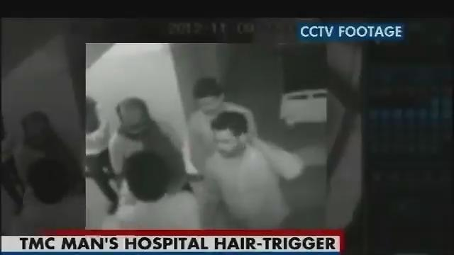 Watch: Suspended TMC leader threatens hospital staff with a gun
