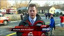 Students, driver OK after scary school bus crash