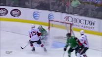 Karlsson rips a one-timer past Lehtonen