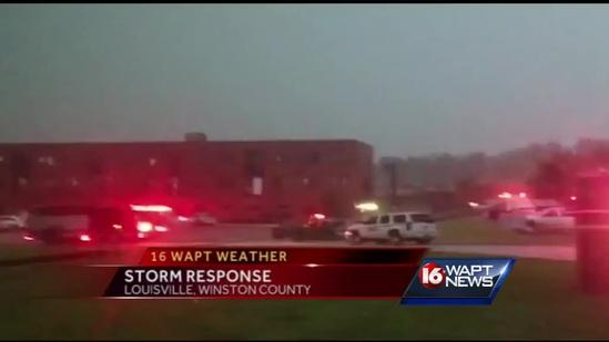 Tornado damages Winston Co. Medical Center