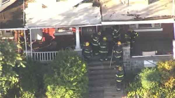 Partial collapse reported at West Philadelphia home