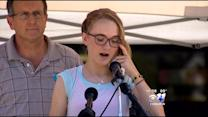"15-Year-Old Sole Shooting Survivor: ""Stay Strong!"""