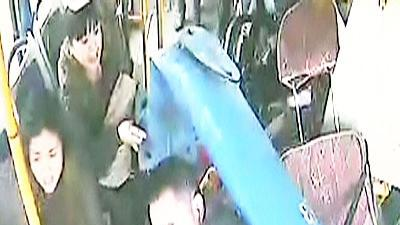 Raw: Stunning Video Captures Pole Into Bus