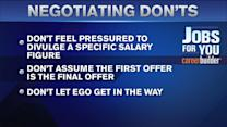 Dos and Dont`s For Negotiating Your Salary