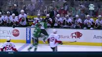 Roussel assists Michalek on line change with hit