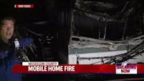 Two Adults And Child Escape Mobile Home Fire