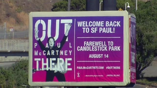 Paul McCartney to rock fans at Candlestick's last show