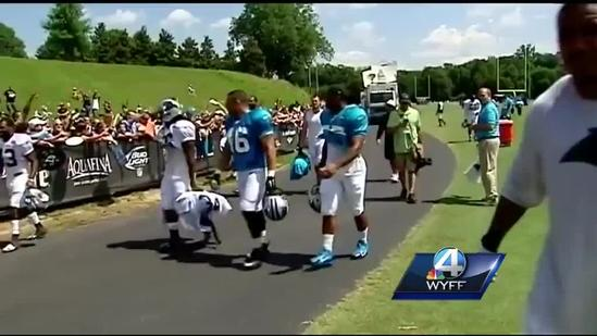 Behind the scenes of Panthers camp at Wofford College