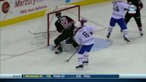 Eric Staal jams puck past Price to tie game