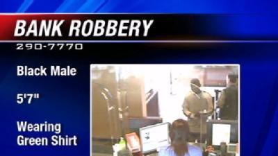 Police Look For Bank Robbery Suspect