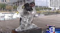 Artists' works only temporary at ice sculpting competition