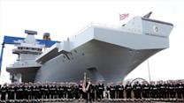 Queen Launches Royal Navy's Newest Carrier
