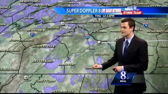 Snow showers expected this afternoon