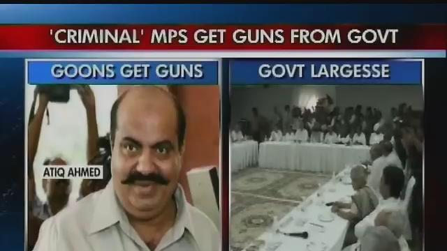 MPs with criminal past get guns from govt