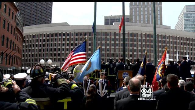 Flag-Raising Ceremony Moves Many To Tears