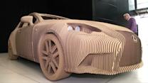 Lexus Builds Origami-Inspired Cardboard Car