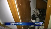 Fire hits Racine apartment