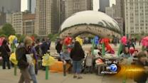 CPS protest picnic at Millennium Park after school closings vote