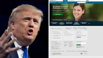 Who would Trump fire for the ObamaCare website fiasco?
