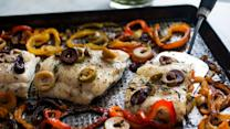 The New York Times - Roasted Hake With Sweet Peppers