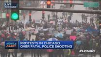 Protesters disrupt Michigan Avenue over fatal shooting