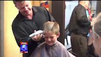 Kids Shave Heads To Support Friend