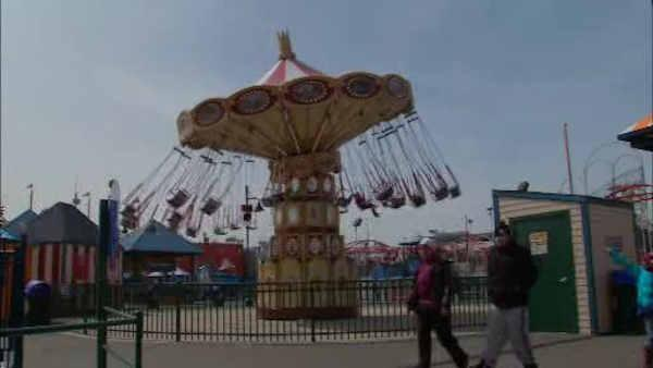 Coney Island amusement park reopens after Sandy
